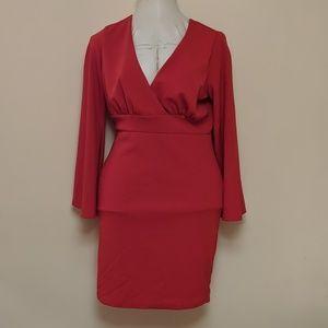Vixen Red bell sleeve bodycon plus size 3xl (16?)